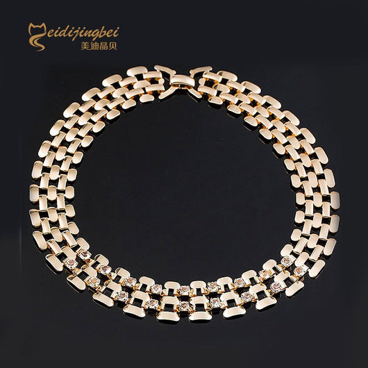 Gold & Silver Plated Choker Necklace