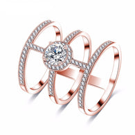 NEW Stunning Tri-Band Cross Ring