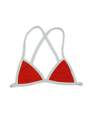 Dippin' Daisy's Over the Shoulder Cross back Triangle Bikini Top - Blissfully Yours Tampa