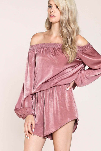 Off Shoulder Romper - Blissfully Yours Tampa