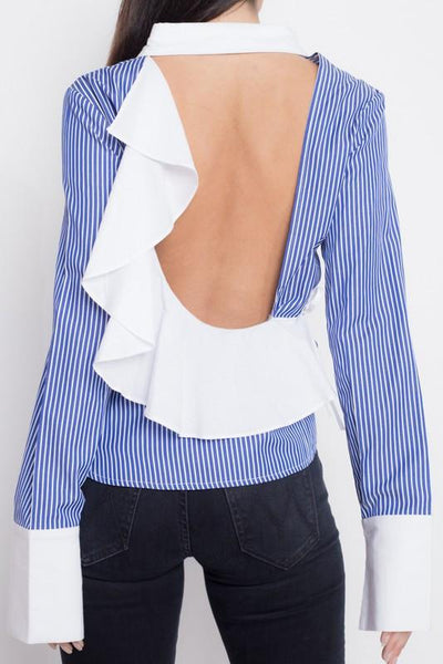 Open Back Button Down
