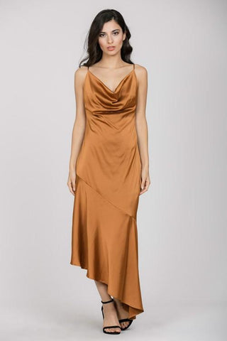 Sleeveless Satin Maxi Dress