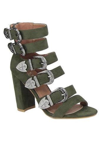 BUCKLED UP CHUNKY HEEL SANDAL - Blissfully Yours Tampa