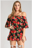 Off The Shoulder Romper - Blissfully Yours Tampa