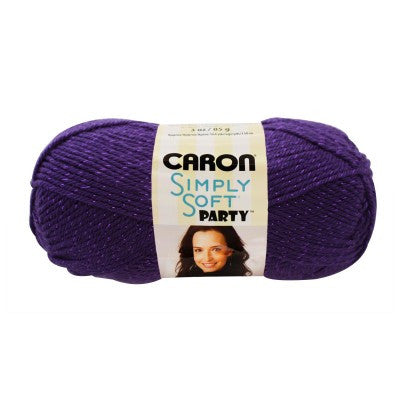 Caron Simply Soft Party - Purple Sparkle - Yarnia Craft Closet