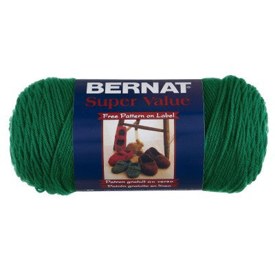 Bernat Super Value - Kelly Green - Yarnia Craft Closet