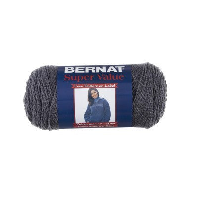 Bernat Super Value - Dark Grey - Yarnia Craft Closet