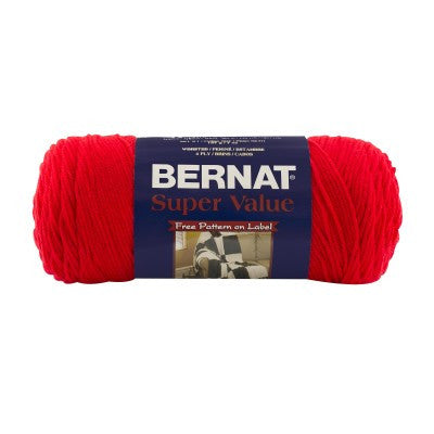 Bernat Super Value - True Red - Yarnia Craft Closet