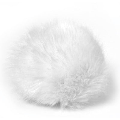 Bernat Faux Fur Pom - White Rabbit - Yarnia Craft Closet