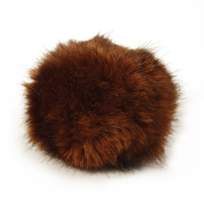 Bernat Faux Fur Pom - Brown muskrat - Yarnia Craft Closet