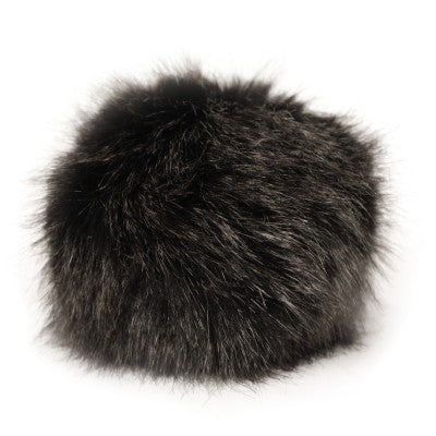 Bernat Faux Fur Pom - Black Mink - Yarnia Craft Closet