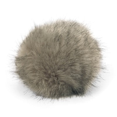 Bernat Faux Fur Pom - Grey Lynx - Yarnia Craft Closet