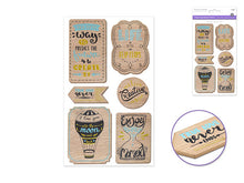 Papercraft : Wood Sticker - Yarnia Craft Closet