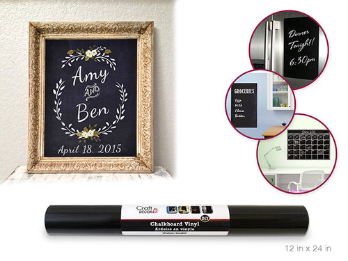 Chalkboard Vinyl - Self Stick - Yarnia Craft Closet