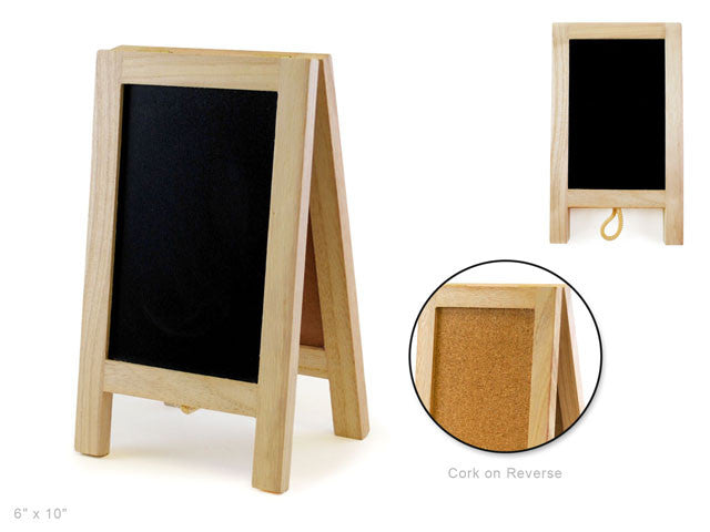 Wooden Easel - Chalk/cork board - Yarnia Craft Closet