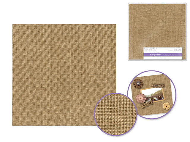 Scrapbook Page : Burlap Sheet - Yarnia Craft Closet
