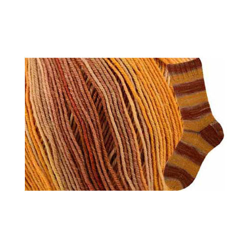 Saki Silk Sock Yarn - Peach Cobbler - Yarnia Craft Closet