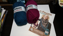 Patons Cozy Striped Kerchief - knit