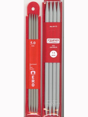 Aero Double Point Aluminum Knitting Needles, 4 count, 20cm (7.9