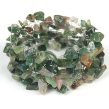 Gemstone beads : Indian Agate : Green - Yarnia Craft Closet