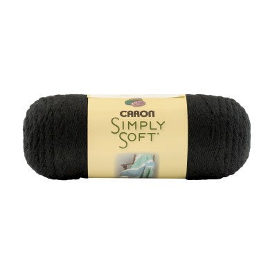 Caron Simply Soft - Black - Yarnia Craft Closet