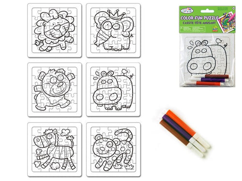 Colour-fun Puzzle w/ Markers - Animal Pals - Yarnia Craft Closet