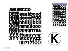 Paper Craft Stickers: Fonts: Various