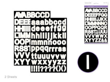 Paper Craft Stickers: Fonts: Various - Yarnia Craft Closet