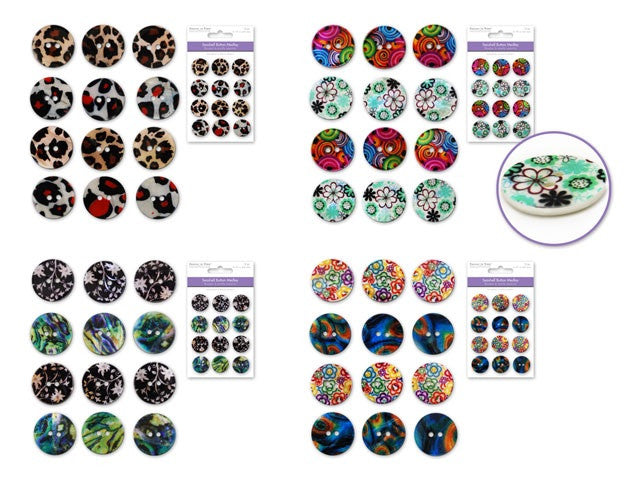 Button Embellishment - Yarnia Craft Closet