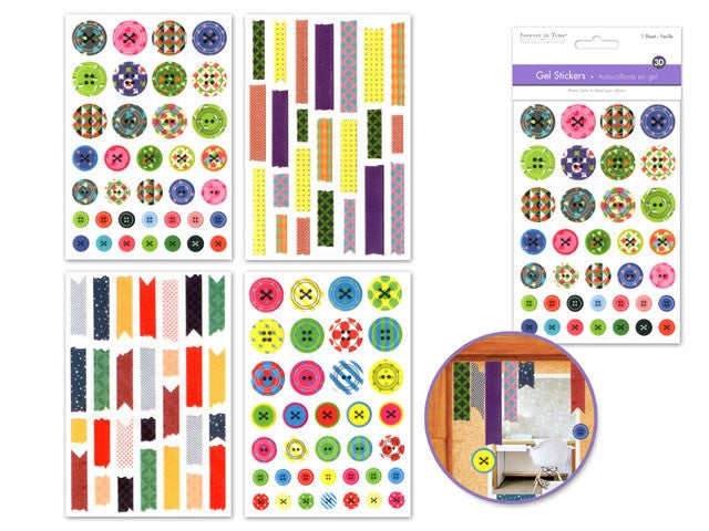 Paper Craft Stickers : Gel 3D - Yarnia Craft Closet