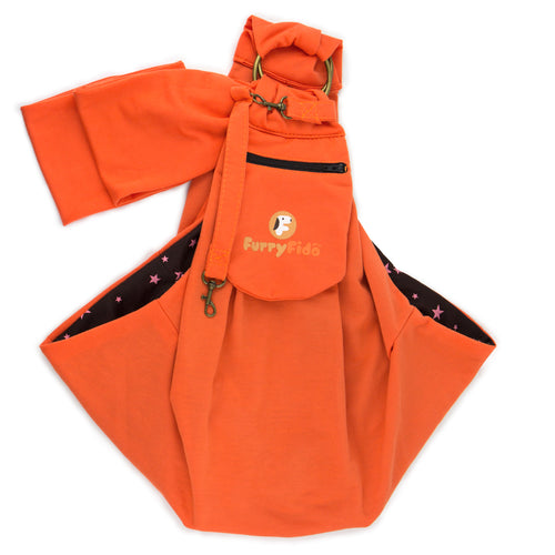 FurryFido Apricot Adjustable Pocket Pet Sling