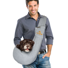 FurryFido Grey Reversible Pet Sling
