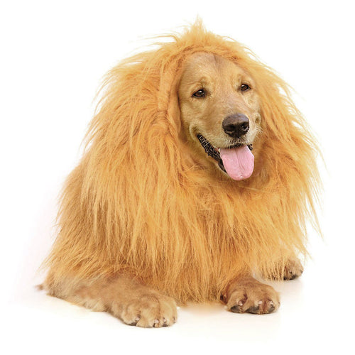 Lion Mane -Lion Wig for Medium to Large Sized Dogs- Dog Costumes