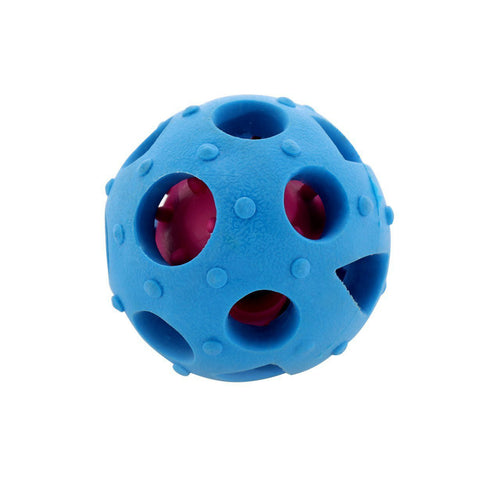 Treat Dispensing Ball for Non Chewy Dogs Nontoxic Rubber( Blue)