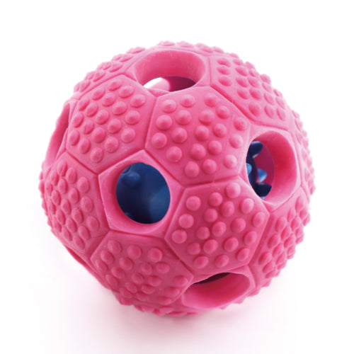 Treat Dispensing Ball for Non Chewy Dogs Nontoxic Rubber (Pink)