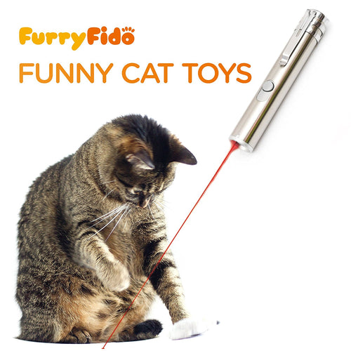iGearPro Chase Cat Toy For Endless Fun: Interactive LED Light by FurryFido to Entertain Your Pets - USB Chargeable