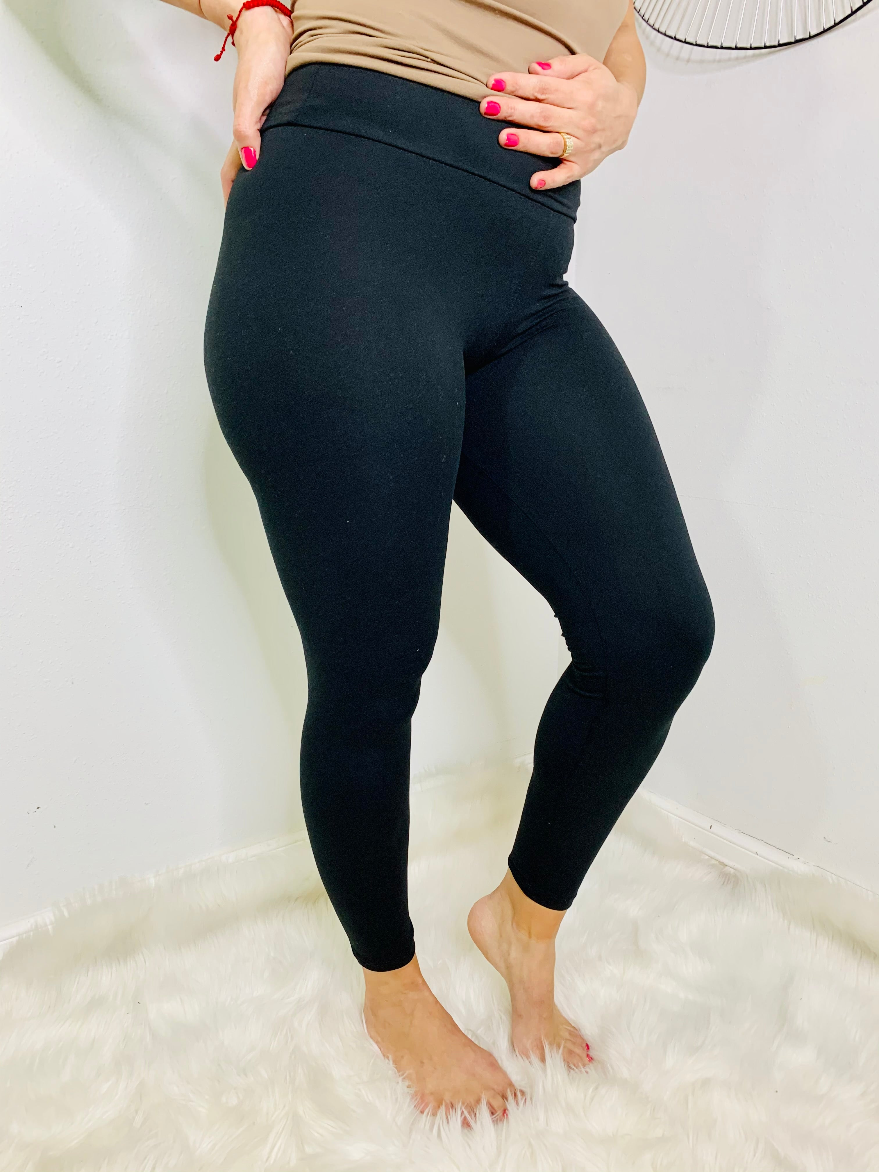 Plus Black Leggings