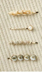 Pearl& Shell Hairpins