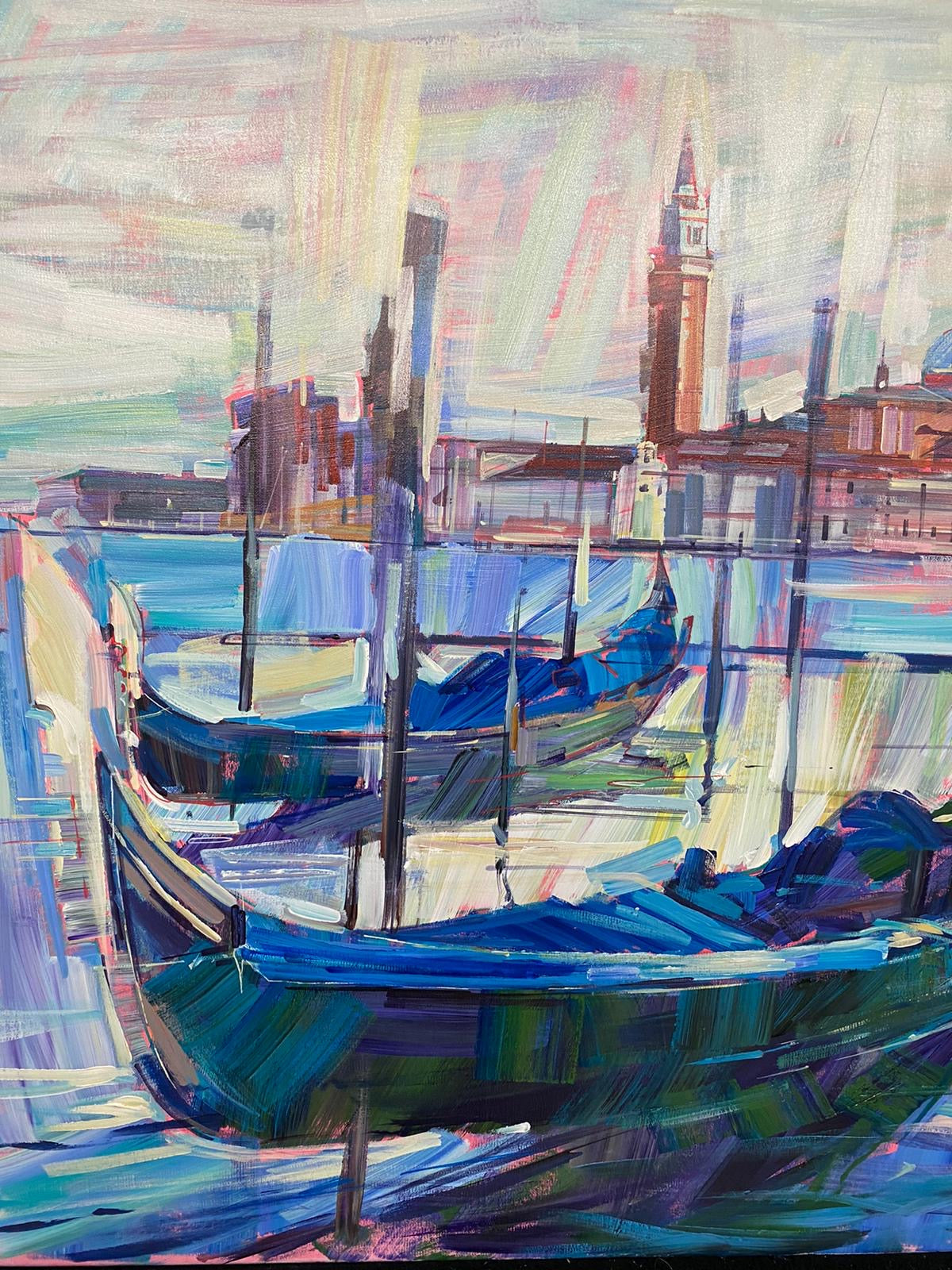 Gondolas at Rest by Colin Brown