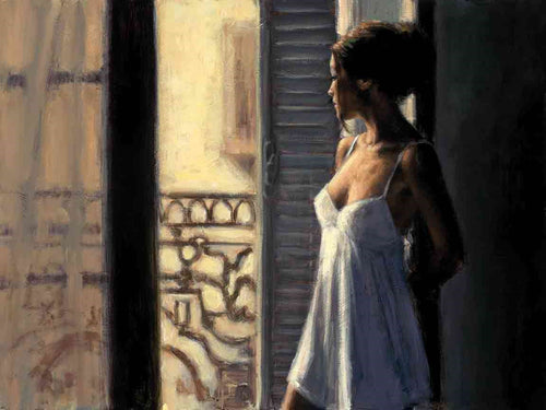 Balcony at Buenos Aires X by Fabian Perez