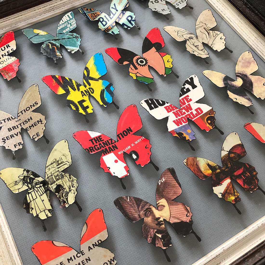 16 Literary Butterflies (double frame)