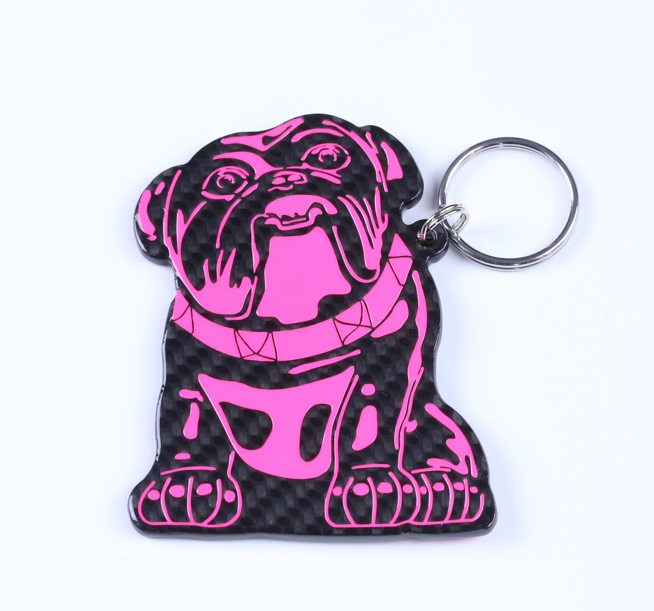 Carbon Bulldog Keyring by Alastair Gibson/Carbon Art 45