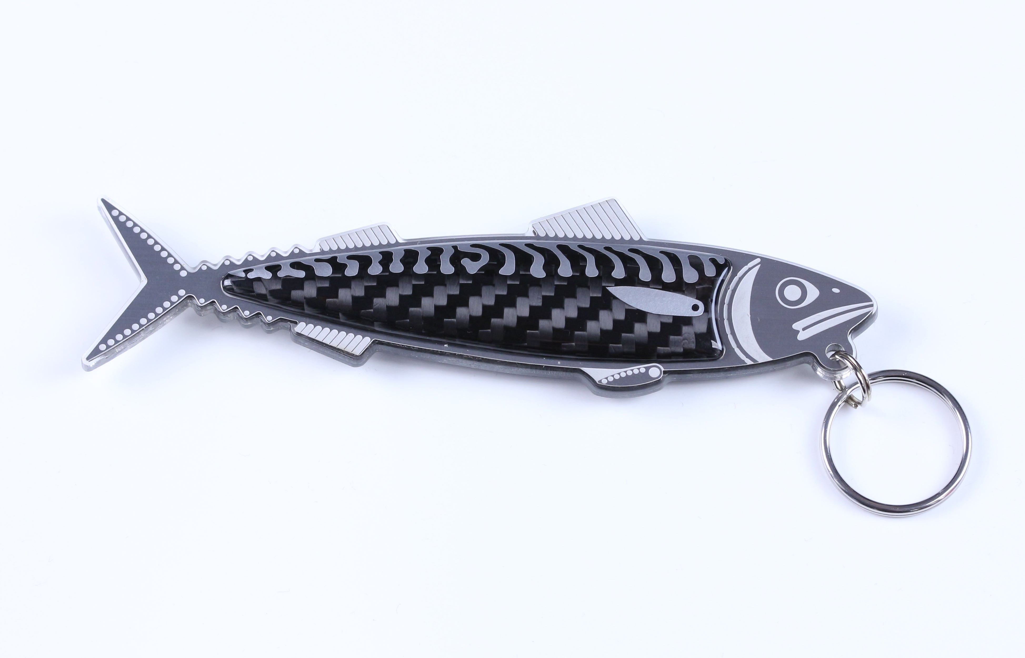 Engineered Mackerel Keyring by Alastair Gibson/Carbon Art 45