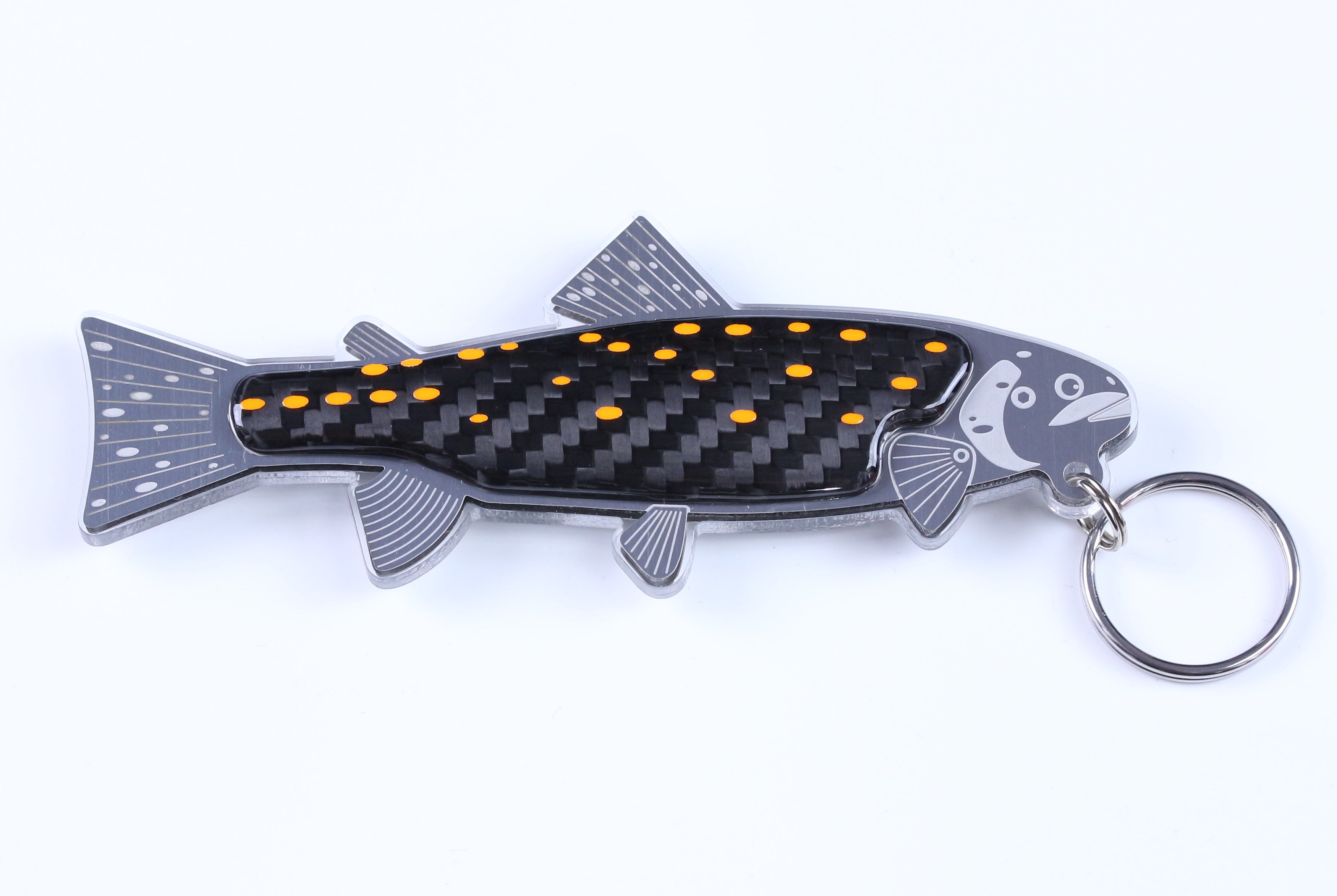 Carbon Trout Keyring by Alastair Gibson/Carbon Art 45