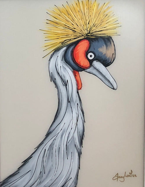 The Gold Crested Crane by Amy Louise