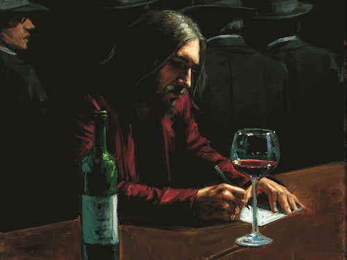 Man at Bar VII by Fabian Perez