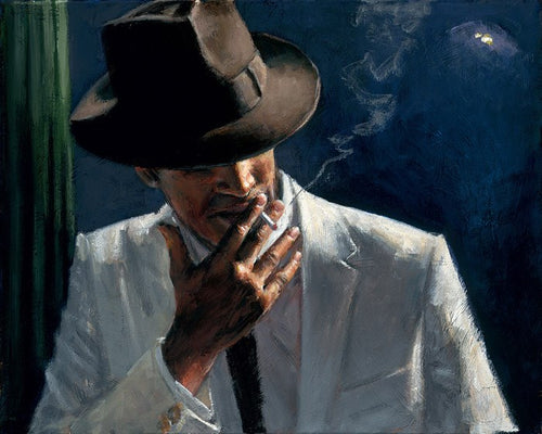 Man In White Suit II by Fabian Perez