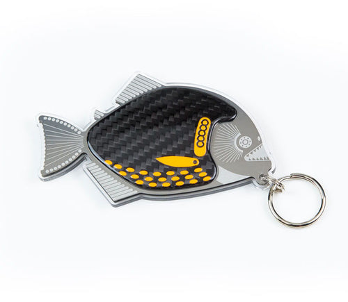 Racing Piranha Keyring by Alastair Gibson/Carbon Art 45