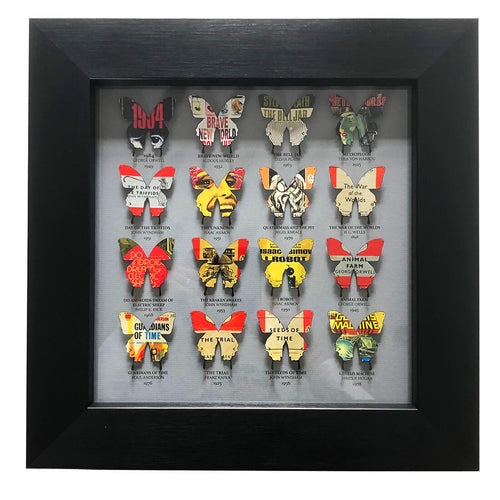 16 Literary Butterflies (grey)