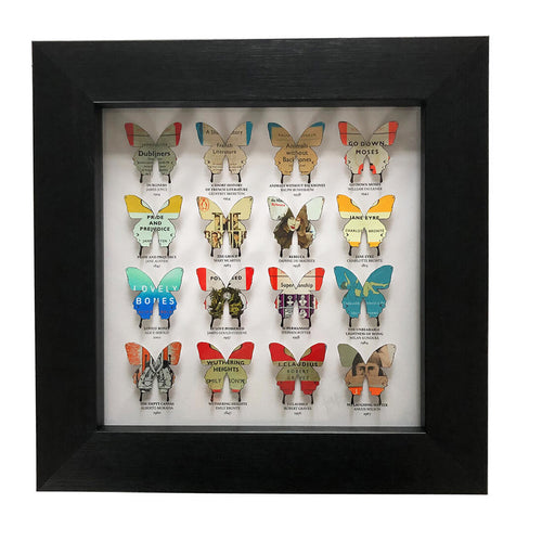 16 Literary Butterflies (white)